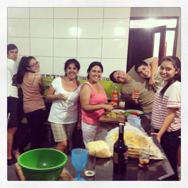 Pizza making at my cousin, Roxanna's house!